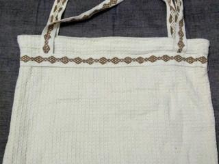 bolsa artesanal em fibra natural