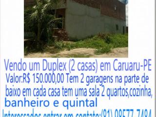 Vendo um Duplex ( 2 casas )