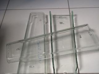 Telhas de vidro (prismatic) Capa plana.