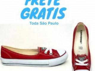 Sapatilha Converse All Star Preta/ Vermelha