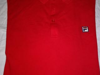 Camiseta Polo cor vermelha marca FILA Tam. XL