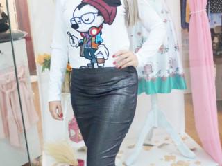 T-shirt manga longa Mickey