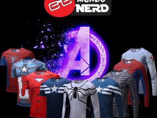 Camisas de heróis e animes