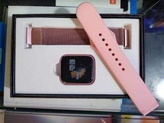Smartwatch P70 Rosê Bluetooth Pulseira com DUAS PULSEIRAS