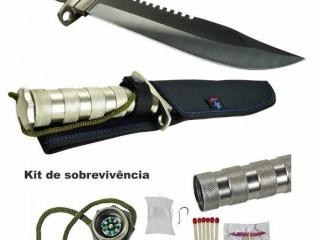 Super promoção só hojeFaca Tática Militar Rambo Kit Sobrevivência
