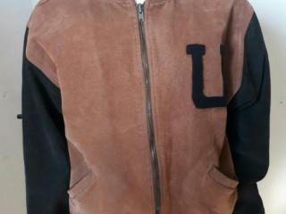 Jaqueta de couro masculina c.g.c