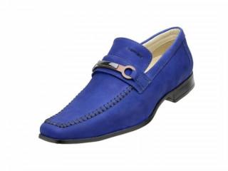 Sapato Social Masculino Esporte Fino Azul