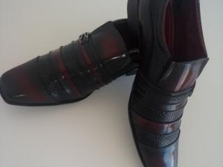 Sapato Social Masculino Verniz Vermelho Verniz