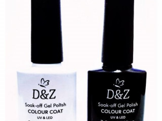Kit Esmalte Unha Gel D&z Led Uv Branco E Preto D & Z 7.5ml