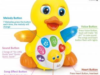 Pato musical brinquedo
