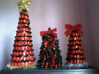 Preparem-Se para o Natal!Árvores de balas!