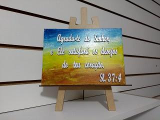 Mensagens Bíblicas Em Telas Pintadas