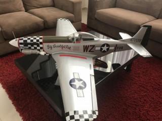 Aeromodelo P-51 A Gasolina - Monte Do Zero