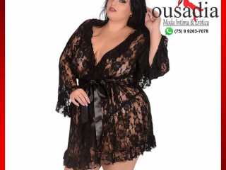 Robe Rendado Plus Size