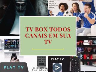 Tv Box 4k transforma sua TV em smart +canais