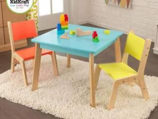 mesa infantil grafit com 2 cadeiras