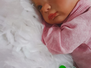 Boneca bebê reborn kit aurora