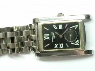 Relógio marca Longines retangular todo aço