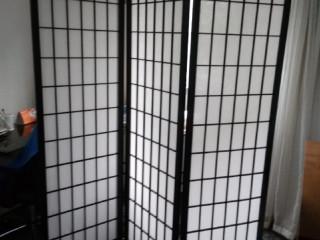 Biombo Tok stok preto e branco
