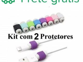 kit com um par de protetor cabo apple (iphone), todos os modelos