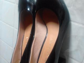 Sapato Feminino Preto Verniz Salto Médio