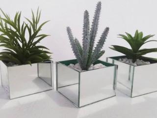 Kit vasos espelhados