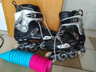 Patins para slalom e cones