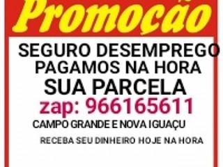 PARCELA DO SEGURO DESEMPREGO PAGAMOS NA HORA