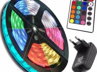 Fita LED controle cores variadas