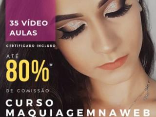 O Curso Maquiagem na Web é totalmente Online.