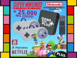 Oferta - Game Retro 25 Mil Jogos + 2 Controles Super Nintendo