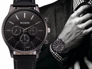 Relógio Masculino Design Retro Pulseira De Couro Promoção