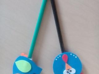 Ponteiras de lápis em eva ou feltro