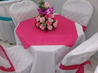 Aluguel de toalhas e capas de cadeiras de festas