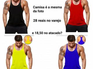 Camisa fitness musculação super cavada preço baixo