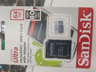 Cartão Micro SD Sandisk 64GB 80mb/s Sdxc Cl 10