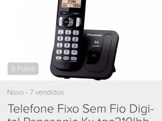 Telefone S/ Fio Panasonic Kx-tgc210lbb,0