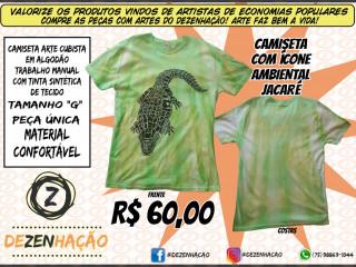 Camisa com Ícone Ambiental Jacaré