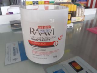 Creme de massagem  Pimenta Preta - RAAVI