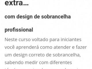 Se profissionalize mais no seu dia  a dia com DESIGNER DE SOMBRANCELHA