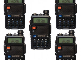 Kit 5 Rádios Baofeng Uv-5r Vhf/UHF.