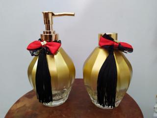 Kit - Difusor Frasco Dourado