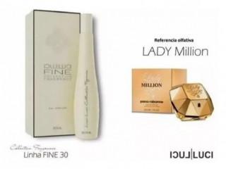 "Compartilhar:  Perfume lady million""luci luci f30"", cor Branco"