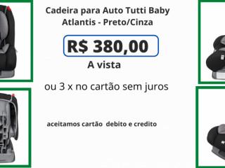 Cadeira para Auto Tutti Baby Atlantis - Preto/Cinza
