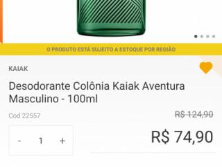 Desodorante Colônia kaiak aventura masc. - Promoção natura
