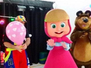 Masha e Urso cover personagens vivos festa infantil Cosplay