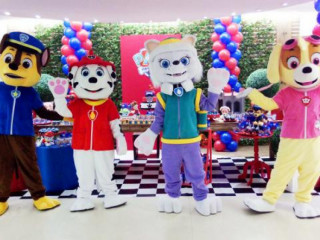 Patrulha Canina cover personagens vivos festa infantil cosplay