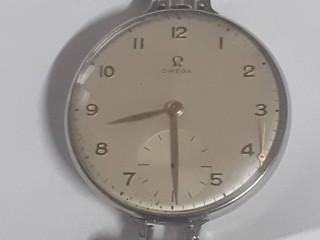 Relógio omega bolso para pulso aço manual