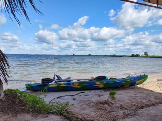 Caiaque Duplo Modelo K2 Pró Pesca 2 Lugares + Remos + Cadeiras