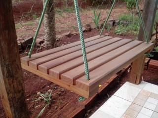 Balanço de madeira 50x30 até 100kg